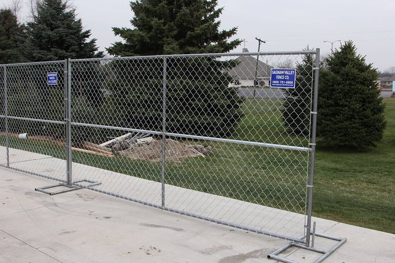 Temporary Construction Fence Saginaw Valley Fence